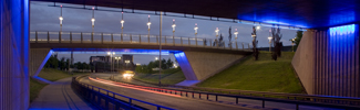 Expressway at Glasgow Harbour at night
