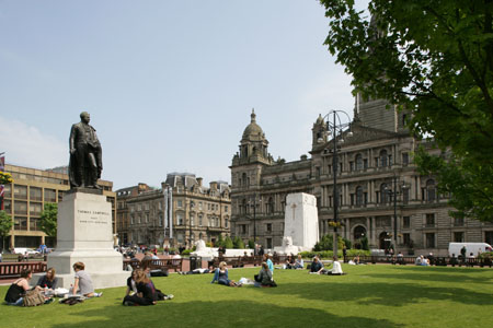 George Square in the heart of the city