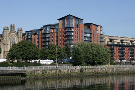 Metropole apartments on the north bank of the Clyde