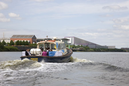Clyde Cruises vessel approaches Braehead