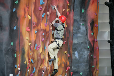 Climbing is one of the activities on offer at Xscape