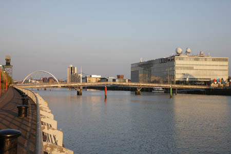 Looking east towards Pacific Quay