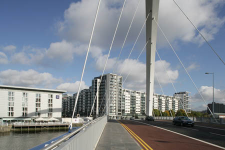 Lancefield Quay apartments at The Clyde Arc