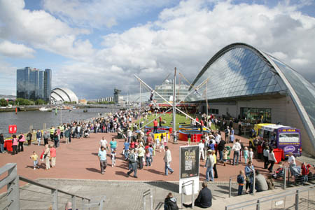 Glasgow River Festival takes place at Pacific Quay and SECC