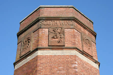 Detail of the Four Winds building