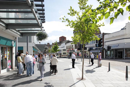 Public realm improvements in Dumbarton Town Centre