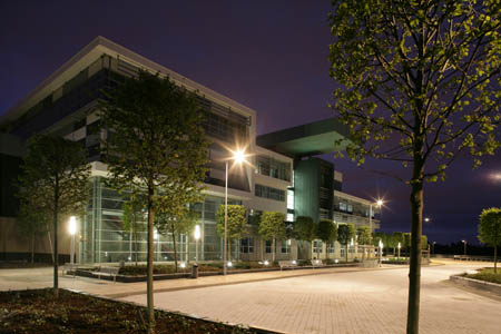 Clydebank College at night