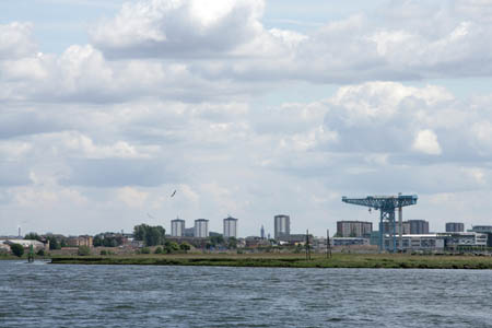 View of the Clydebank Titan Crane at Queens Quay
