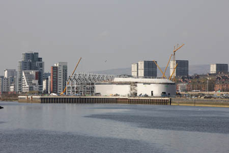 The Riverside Museum gets its skin