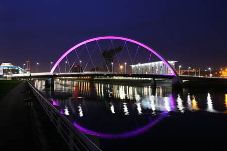 Clyde Arc at night