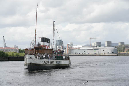 The Waverley travels up river