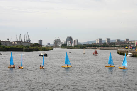 Sailboats on the Clyde