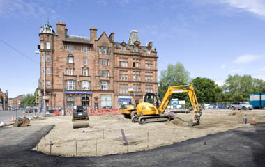Groundworks at Govan Cross