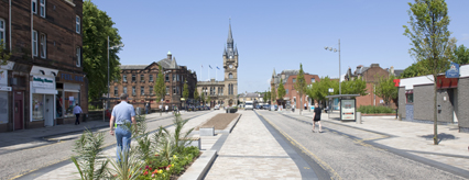 The improved Renfrew Town Centre