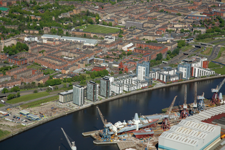 Phase 1 and 2 of Glasgow Harbour are complete