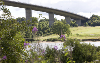 View of the Erskine Bridge from The Saltings