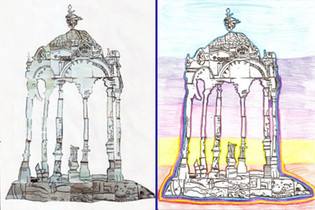 Children's impressions of the Aitken Memorial Fountain