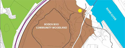 Plan of green network at Boden Boo
