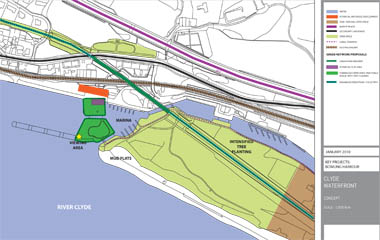 Plan of green network at Bowling harbour