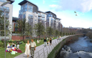 Artist's impression of the Kelvin Valley Park area showing its potential