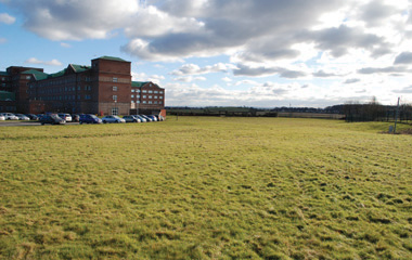 Existing view of the Golden Jubilee Hospital and Clydeside Community Park
