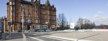 Public realm improvements in central Govan