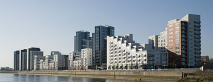 Phase 2 is situated on at the west end of the Glasgow Harbour apartments