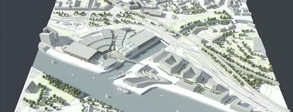 Model of Glasgow Harbour future phases
