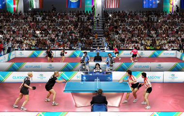 Table Tennis at the Commonwealth Games, courtesy of Designhive/Glasgow 2014