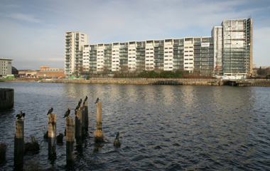 Lancefield Quay from the South Bank