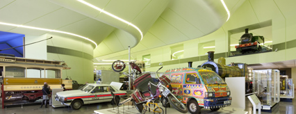 Interior exhibit at the Riverside Museum