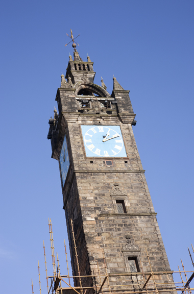 Detail of the Tolbooth steeple