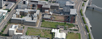 Aerial view of 220 Broomielaw site
