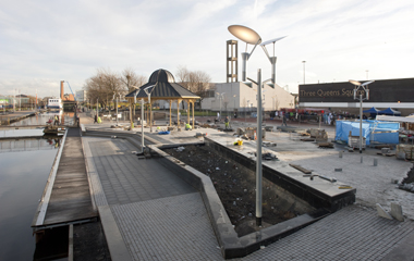 Public realm works continue on the south canal bank