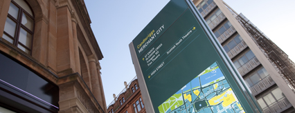 New signage for Merchant City