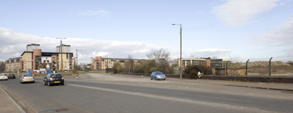 The site of the new Tesco at Cathcart Road