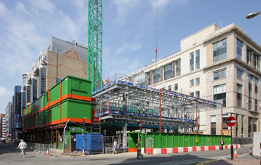 Steel work commences at Centenary House