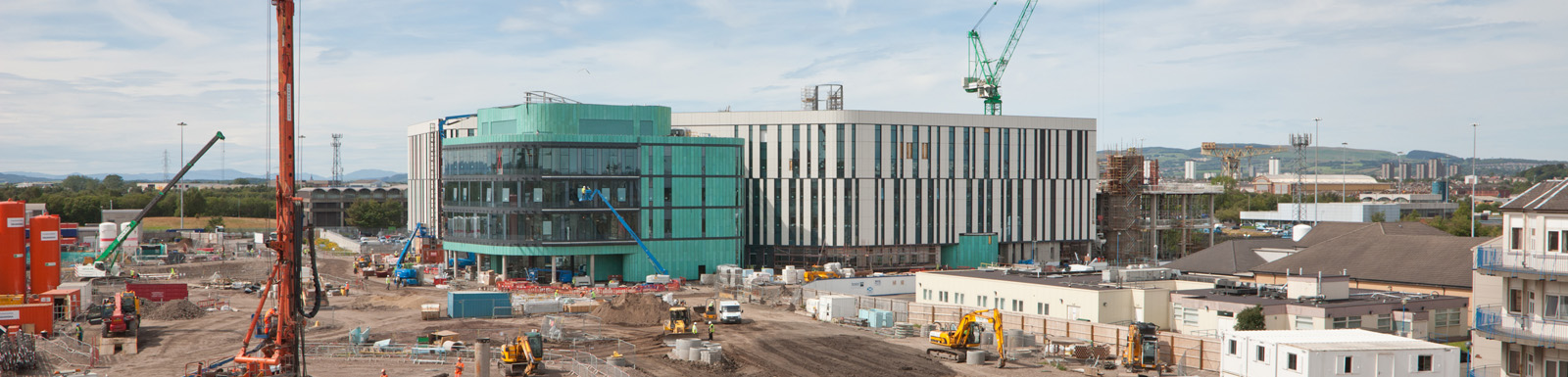 Construction work continues apace at the new South Glasgow Hospital campus