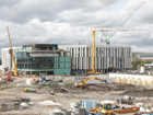 The new South Glasgow Hospital under construction