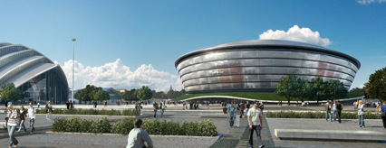 Architects impression of the new arena, by Foster and Partners
