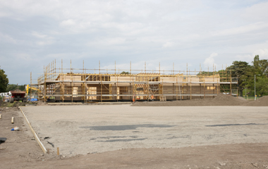 The clubhouse under construction