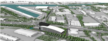 Artist's impression of the new South Clyde Energy Centre