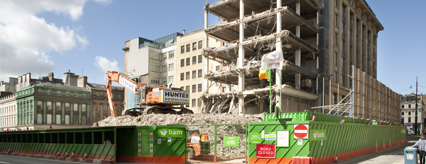 110 Queen Street in Glasgow city centre is being demolished