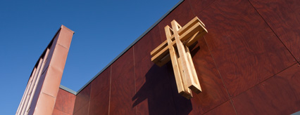 Detail of the exterior of New Gorbals Church