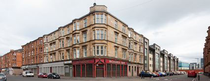 Govan Road refurbished flats above Richards Bar
