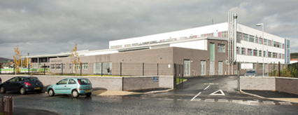 The rear of the new Dumbarton Academy