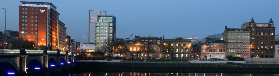 Custom House Quay in Glasgow's city centre