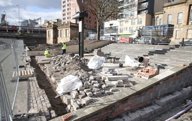 Work has started on the amphitheatre