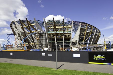 construction continues at The SSE Hydro