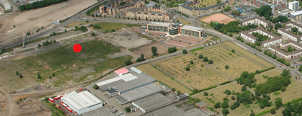 Aerial view of the Cathcart Road site